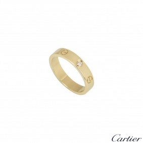Cartier Yellow Gold Diamond Wedding Love Ring B4056154
